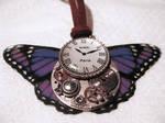 Steampunk Purple Butterfly