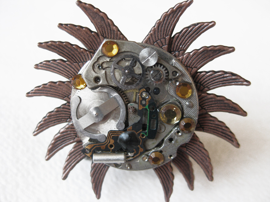 Steampunk Ring - Sun by xxPRECIOUSMOMENTSxx