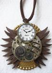 Steampunk Necklace - Owl