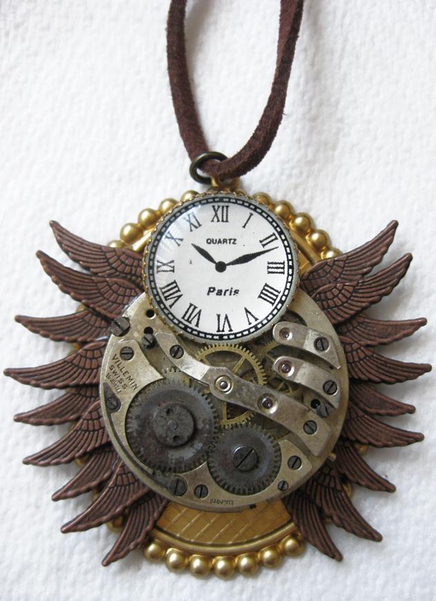 Steampunk Necklace - Owl by xxPRECIOUSMOMENTSxx