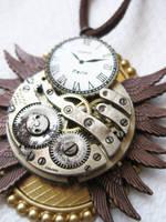 Steampunk Necklace - Owl 2 by xxPRECIOUSMOMENTSxx