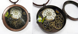 Steampunk Necklace - Locket