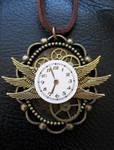 Steampunk Bug Clock Necklace by xxPRECIOUSMOMENTSxx