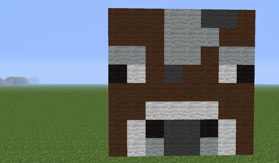 Minecraft Cow Pixel Art Minecraft cow by blockinclass