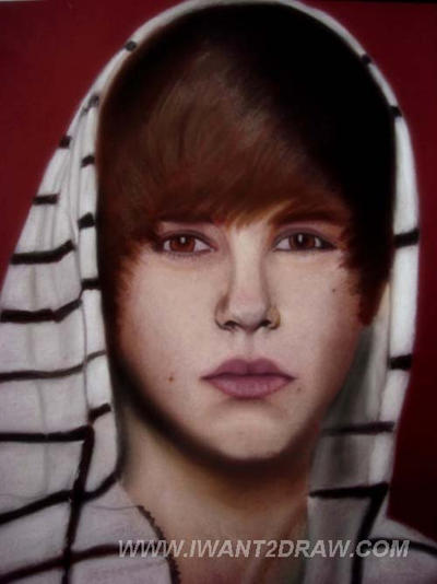 justin bieber drawing step by step. justin bieber kissy face 2011.
