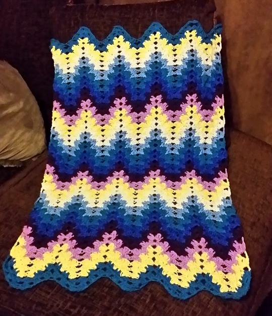 Spiked baby blanket by StrandedAutumn