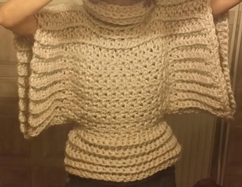 Crochet Brioche Sweater by StrandedAutumn