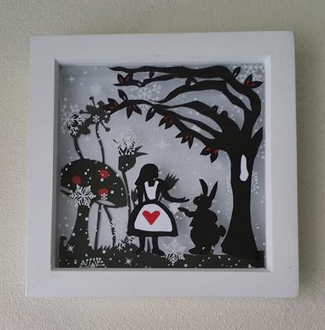 Alice Papercut by StrandedAutumn