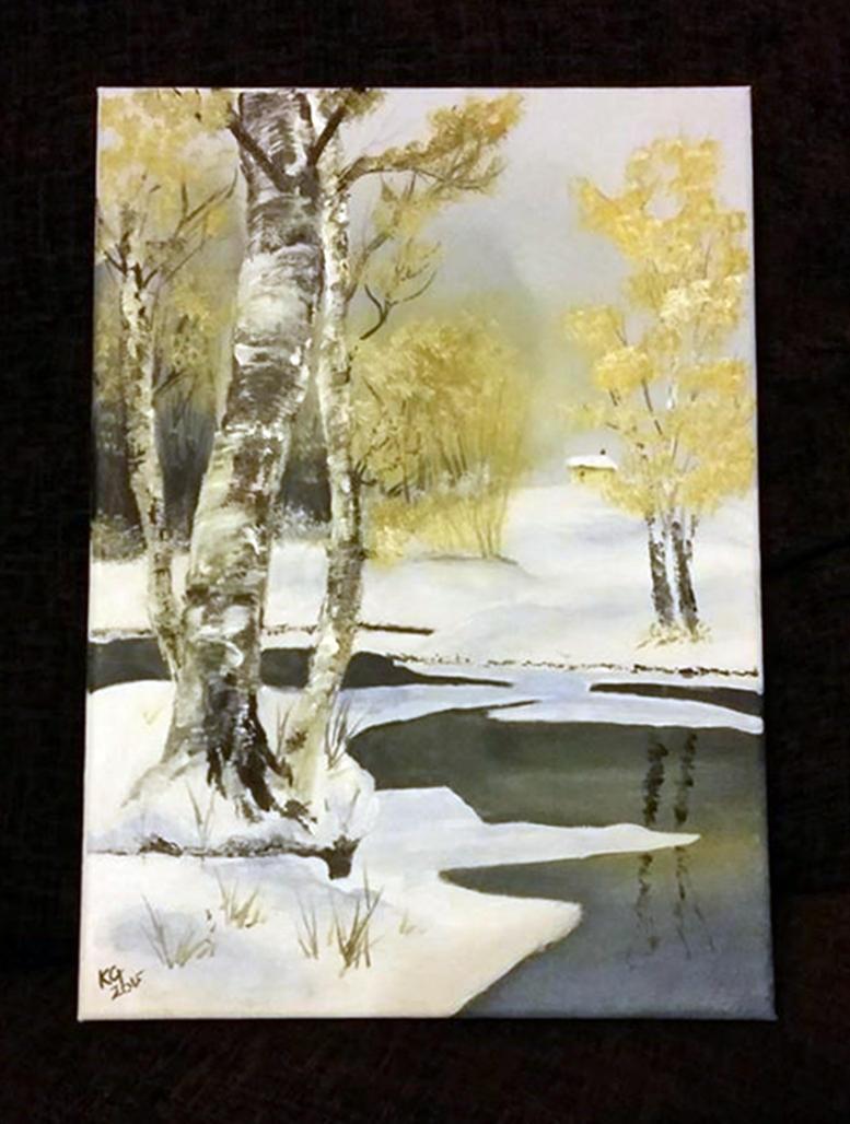 Winter Pond by StrandedAutumn