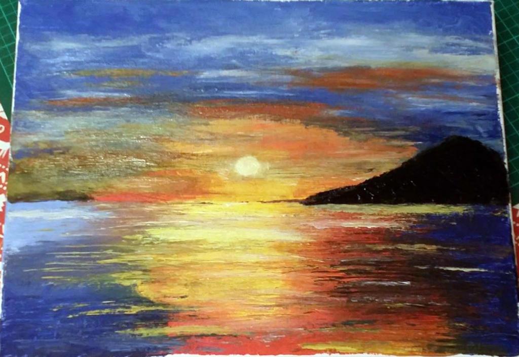 Sunset Seascape by StrandedAutumn