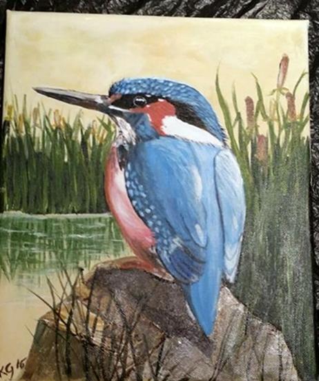 Bob the Kingfisher by StrandedAutumn