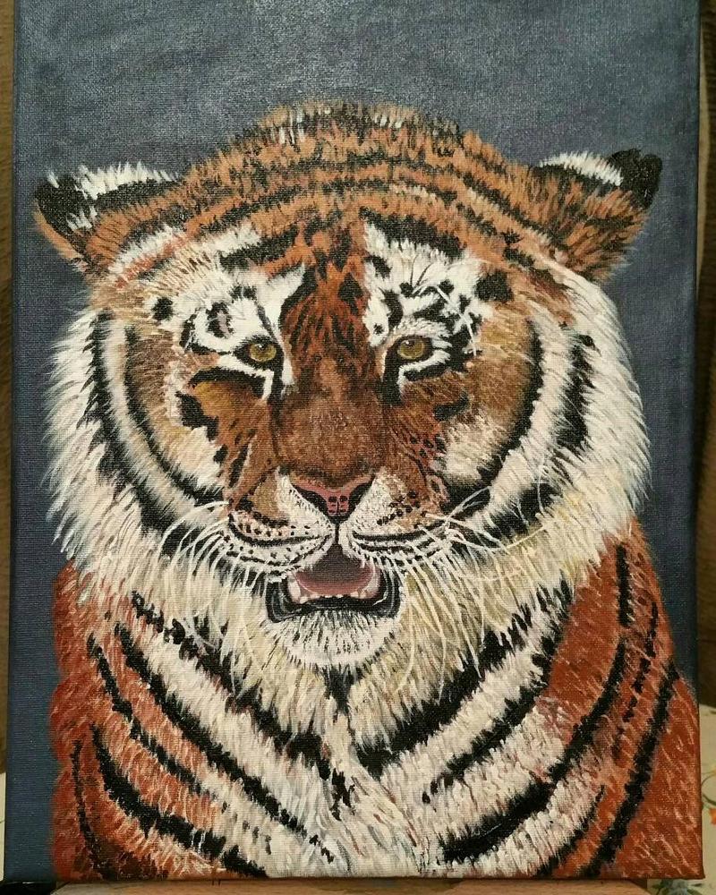 Tiger, acrylic on canvas by StrandedAutumn