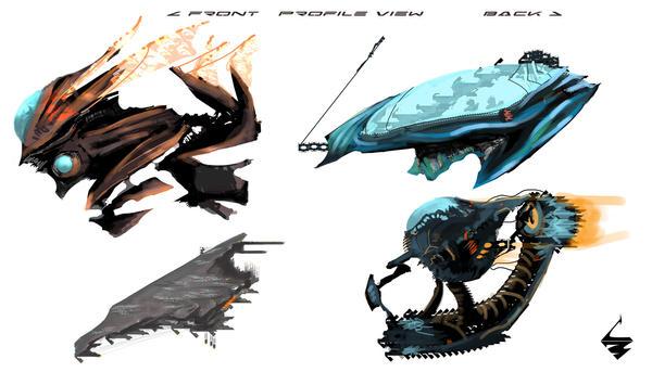 Ship Concepts by Lightbehm