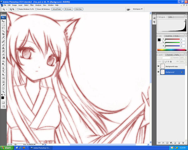 fox girl - WIP by strawberrycake