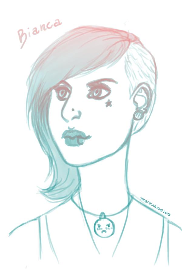 Bianca sketch by Mustelka93