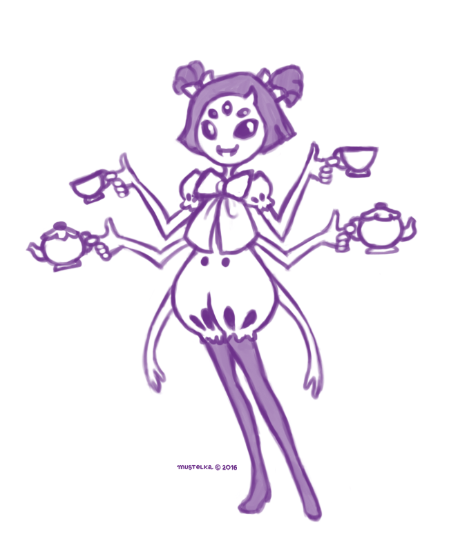Muffet doodle by Mustelka93
