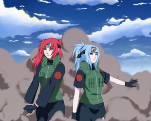 Shinku and Mikura by whiterabbit20
