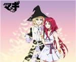 Magi:TheLabyrinth of Magic Titus Alexius and Amira