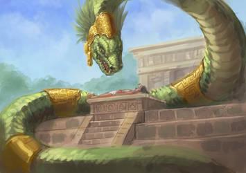Smaugust sketch 1 - El Dorado Rayquaza