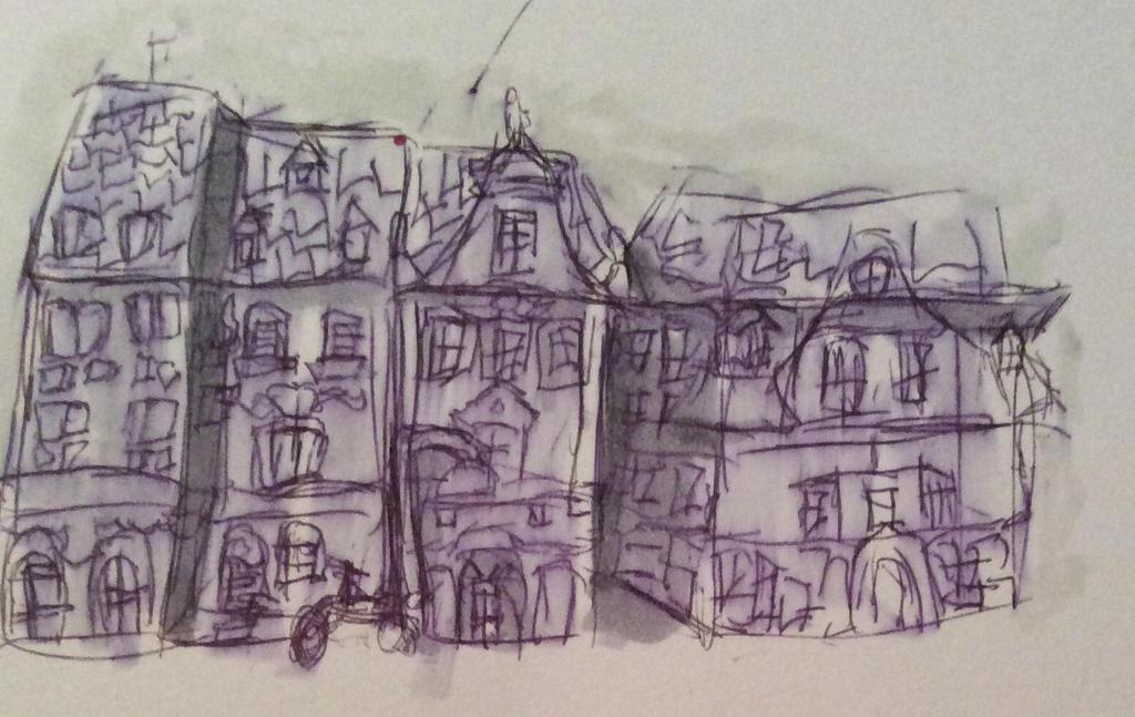 Urban sketch  by Toxie917