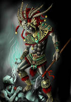 Aztec Warrior by XeNiitA