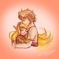 Skyward Sword: not giving up on love by Zelbunnii