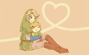 Link and Link: Brothers by Zelbunnii