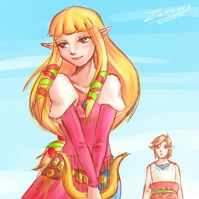 Link And Zelda Relationship Link And Zelda Love Sk...