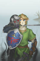 Link vs Dark Link: You won't escape from me by Zelbunnii