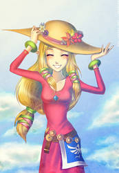 Skyward Sword Zelda: In a hat by Zelbunnii