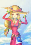 Skyward Sword Zelda: In a hat by Zelbunnii