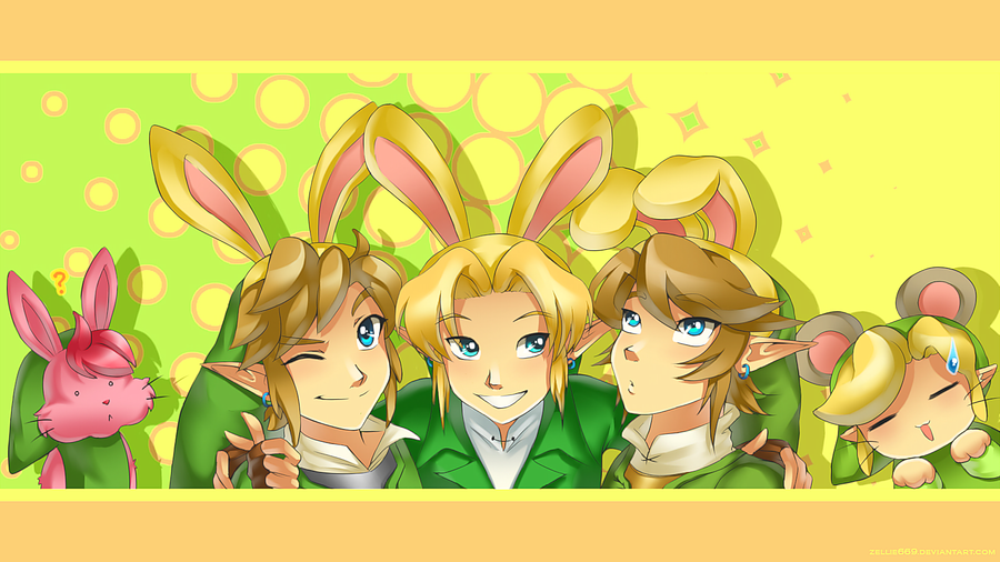 Link x 5: Happy Bunny Day by Zelbunnii