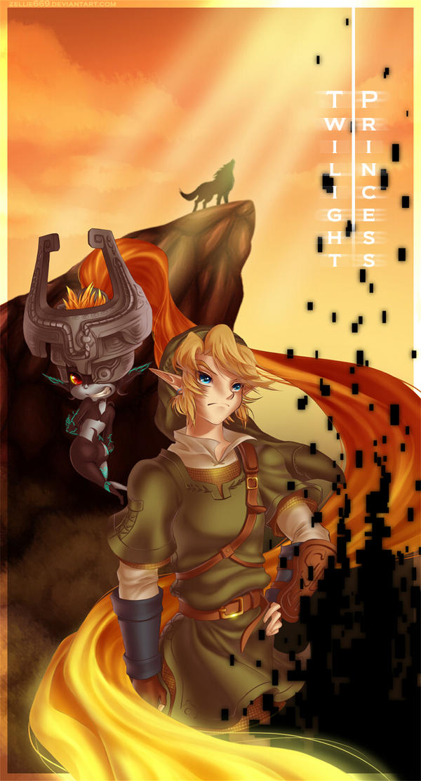 Twilight Princess: Link and Midna by Zelbunnii
