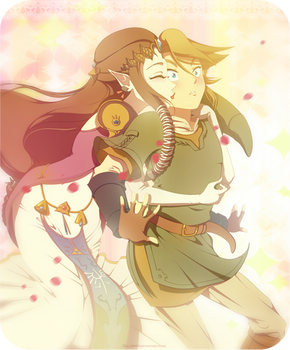 Twilight Princess: ZeLink glomp