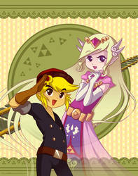 Spirit Tracks: Link and Zelda by Zelbunnii