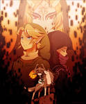 Twilight Princess: Link + Zelda + Midna