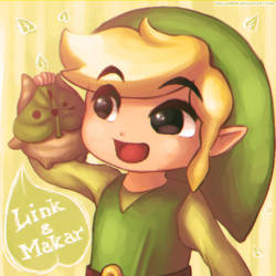 Wind Waker: Link and Makar by Zelbunnii