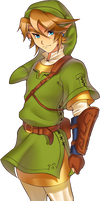 Twilight Princess Link (collab part) by Zelbunnii