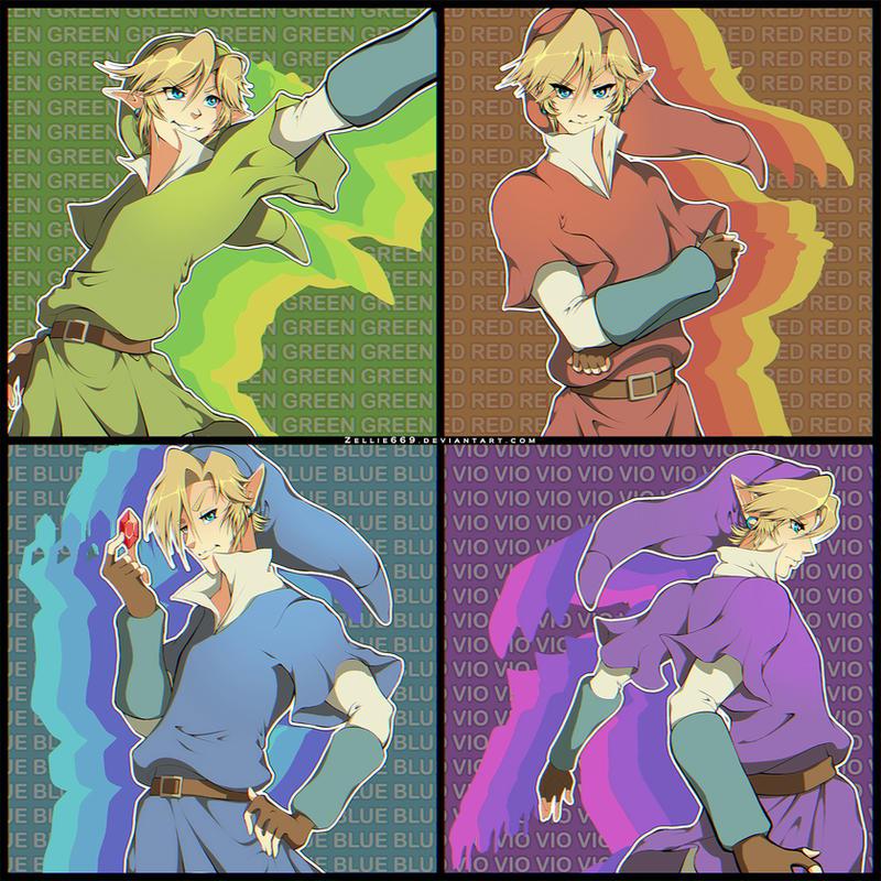 4 Swords adult Links by Zelbunnii