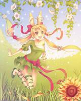 Summer Bunny by Zelbunnii