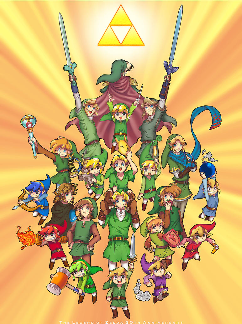 The Legend Of Zelda 30th Anniversary By Zelbunnii