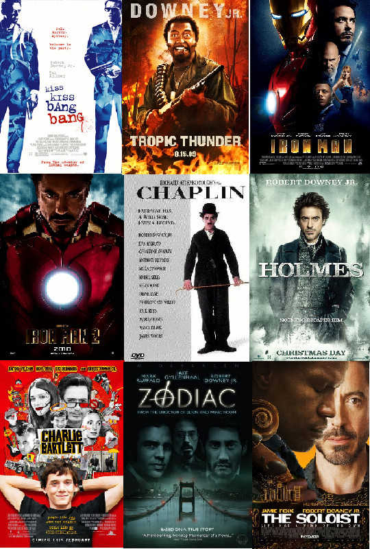 Robert downey jr movies by Robertdowneyjrfan