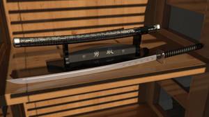 Samurai Sword and Stand