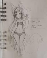 .: [OC] Ume Sketch :. by Mekaiime