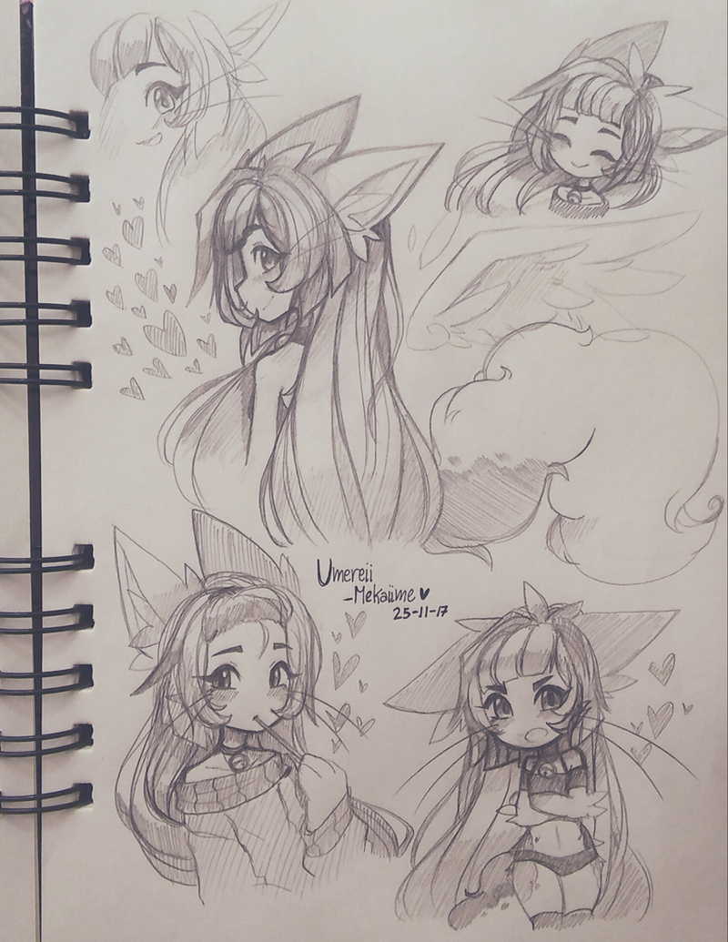 .: [OC] Sketches :. by Mekaiime