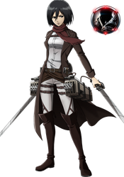 Mikasa Ackerman-Renders by maosnfg