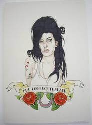 Amy Winehouse by PsychosisSafari