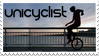 Unicyclist Stamp by wasted49