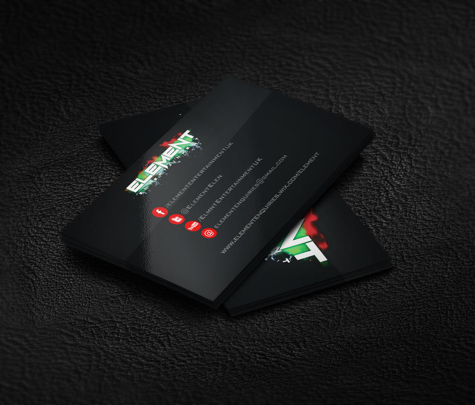 Element Entertainment Business Card Mock up by wasted49 on DeviantArt