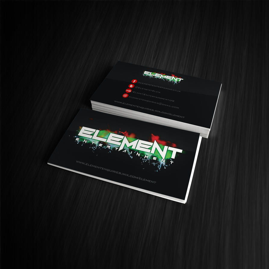 Element Entertainment Business Card Mock up V2 by wasted49 on DeviantArt